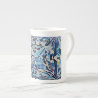 Glasdiamant-Knochen-China-Tasse Porzellantasse