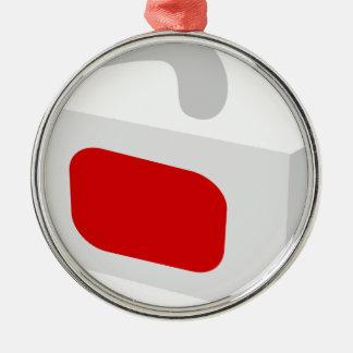Gläser 3d silbernes ornament