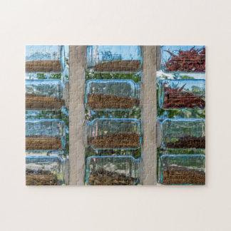 Glasgewürz rüttelt Fotopuzzlespiel Puzzle