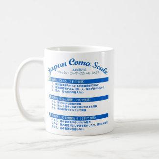 Glasgow-Koma-Skala- u. Japan-Komaskala Kaffeetasse