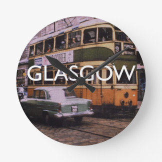 Glasgow Runde Wanduhr