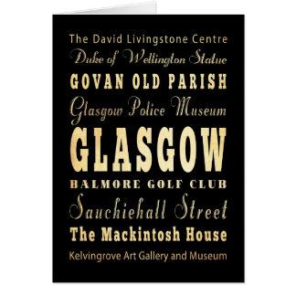 Glasgow-Stadt der Schottland-Typografie-Kunst Karte