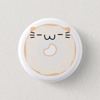 Glasig-glänzender Katzen-Krapfen-Knopf Runder Button 2,5 Cm