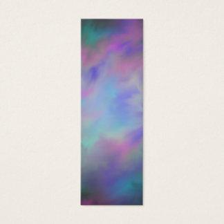 Glasige Galaxie-Lesezeichen Mini Visitenkarte