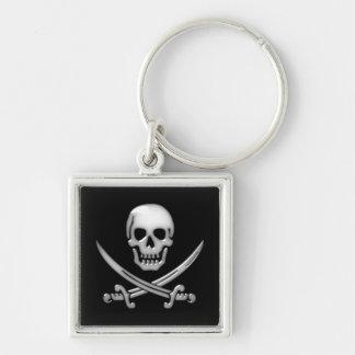 Glasige Piraten-Schädel-u. Klinge-gekreuzte Schlüsselanhänger