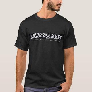 Glassapple schwarzer T - Shirt (mit Website)