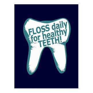 Glasschlacke täglich für gesunde Zähne! Postkarte