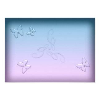 Glasschmetterlings-Einladung 12,7 X 17,8 Cm Einladungskarte