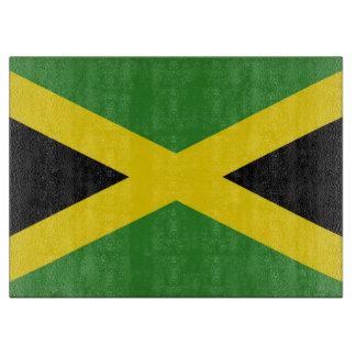 Glasschneidenbrett mit Flagge von Jamaika Schneidebrett