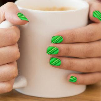 Glasstreifen - Schatten des Smaragdgrüns Minx Nagelkunst