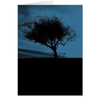Glastonbury Weißdorn. Schwarzes und Blau. Baum Karte