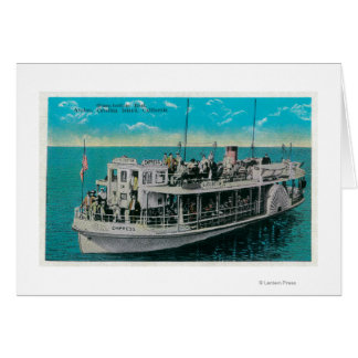 Glasunterseiten-Boot in Avalon, Catalina-Insel Karte