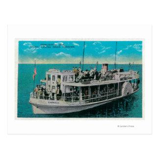 Glasunterseiten-Boot in Avalon, Catalina-Insel Postkarte