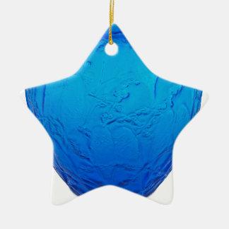 Glasvase des blauen Kunst-Dekos mit Vögeln Keramik Ornament