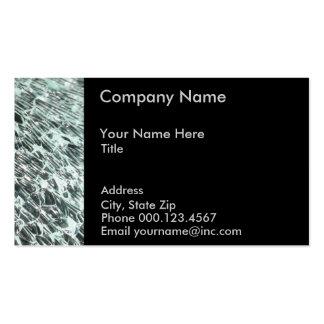 GlasVisitenkarte-Schablone Visitenkarten