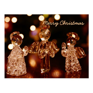Glasweihnachtsengels-Postkarte Postkarte