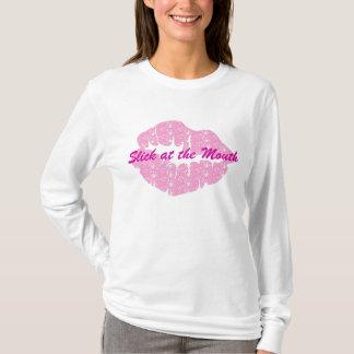 Glatt am Mund-Womenshoodie-T-Stück T-Shirt