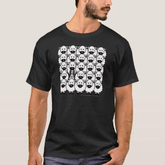 Glatt-Überzogene Border-Collie in den Schafen T-Shirt