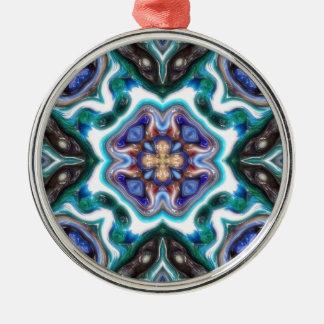 Glatte abstrakte Reflexionen Silbernes Ornament