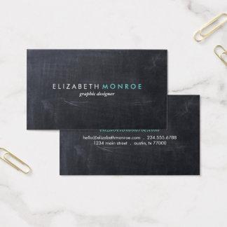 Glatte einfache moderne Tafel Visitenkarte