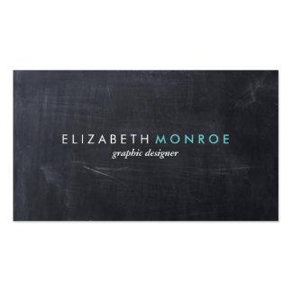 Glatte einfache moderne Tafel Visitenkarten Vorlage
