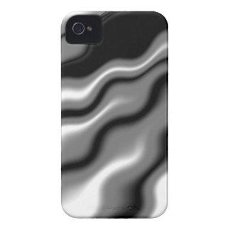 Glatte elegante Schwarz-weiße Wellen-abstrakte Case-Mate iPhone 4 Hülle