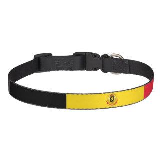 Glatte Flagge Belgiens Haustierhalsband