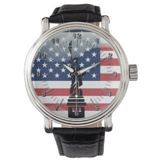 Glatte Flagge des USA Uhr