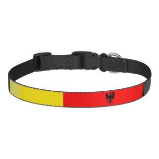 Glatte Flagge Deutschlands Haustierhalsband