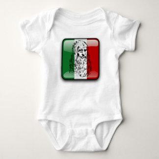 Glatte Flagge Italiens Baby Strampler