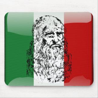 Glatte Flagge Italiens Mauspads