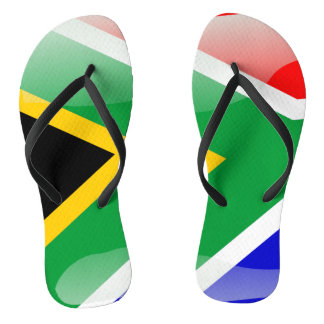 Glatte Flagge Südafrikas Flip Flops