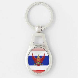 Glatte Flagge Thailands Schlüsselanhänger
