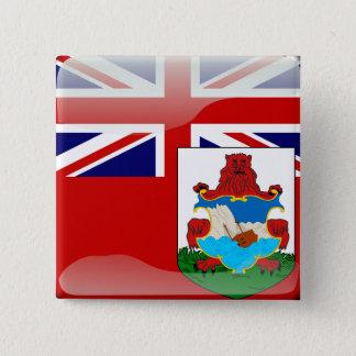 Glatte Flagge von den Bermudas Quadratischer Button 5,1 Cm