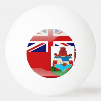 Glatte Flagge von den Bermudas Tischtennis Ball