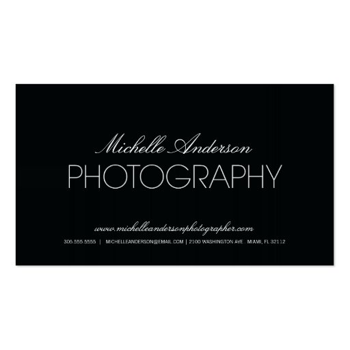 GLATTE FOTOGRAFIE-VISITENKARTE DES FOTOGRAF-%PIPE%