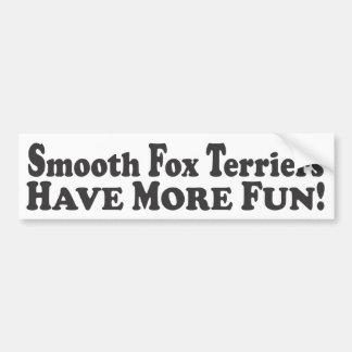 Glatte Foxterrier haben mehr Spaß! - StoßSticke Autoaufkleber