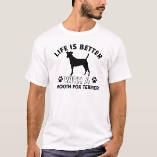 Glatte Foxterrierhundezuchtentwürfe T-Shirt