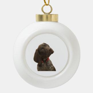 Glatte Graubär-Weihnachtsverzierung Keramik Kugel-Ornament