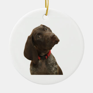 Glatte Graubär-Weihnachtsverzierung Keramik Ornament