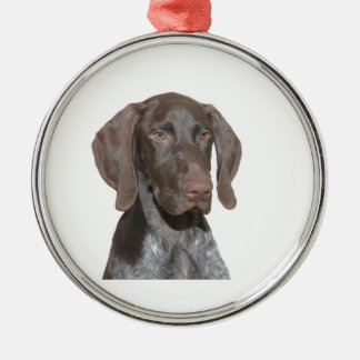 Glatte Graubär-Weihnachtsverzierung Silbernes Ornament