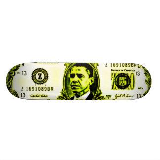 Glatte Obama-Geld-Plattform Skateboarddeck