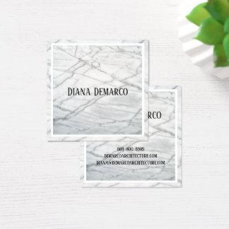 Glatte quadratische MarmorVisitenkarte Quadratische Visitenkarte