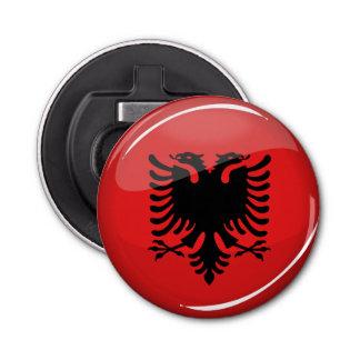 Glatte runde albanische Flagge Runder Flaschenöffner