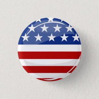 Glatte runde amerikanische Flagge Runder Button 3,2 Cm