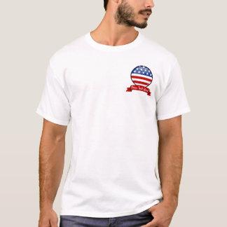 Glatte runde amerikanische Flagge T-Shirt