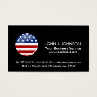 Glatte runde amerikanische Flagge Visitenkarte