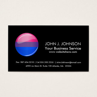 Glatte runde Bisexuality-Flagge Visitenkarte