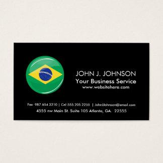 Glatte runde brasilianische Flagge Visitenkarte