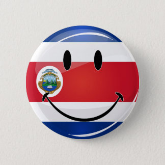 Glatte runde Costa Rican Flagge Runder Button 5,7 Cm